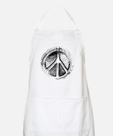 Urban Peace Sign Sketch BBQ Apron