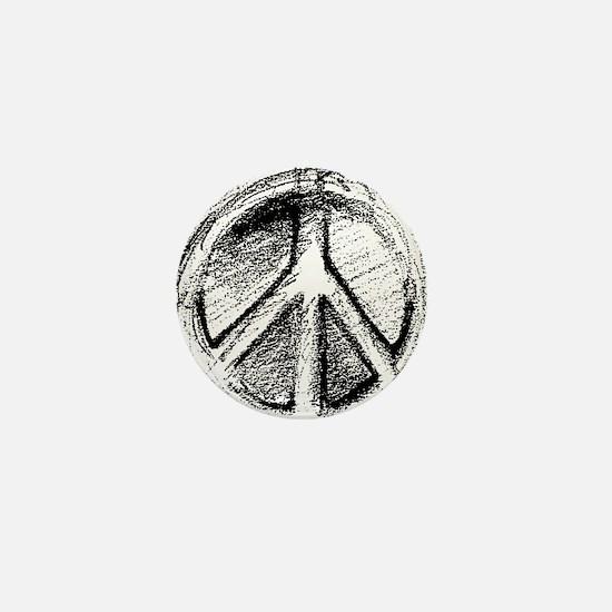 Urban Peace Sign Sketch Mini Button