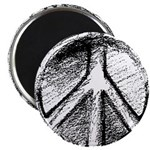 Urban Peace Sign Sketch Magnet