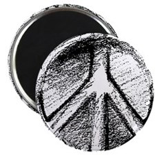 """Urban Peace Sign Sketch 2.25"""" Magnet (10 pack)"""