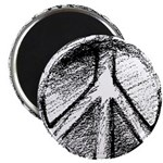 "Urban Peace Sign Sketch 2.25"" Magnet (100 pack)"
