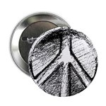 "Urban Peace Sign Sketch 2.25"" Button (100 pack)"