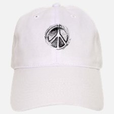 Urban Peace Sign Sketch Baseball Baseball Cap