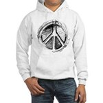 Urban Peace Sign Sketch Hooded Sweatshirt