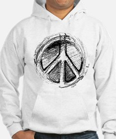 Urban Peace Sign Sketch Hoodie