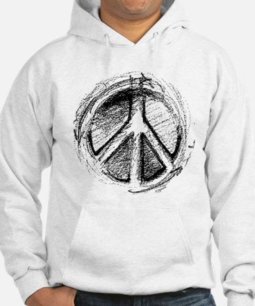 Urban Peace Sign Sketch Jumper Hoody