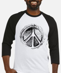 Urban Peace Sign Sketch Baseball Jersey