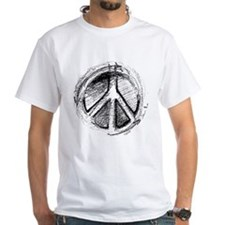 Urban Peace Sign Sketch Shirt