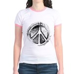 Urban Peace Sign Sketch Jr. Ringer T-Shirt