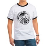 Urban Peace Sign Sketch Ringer T