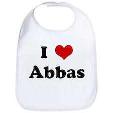 I Love Abbas Bib