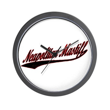 Neapolitan Mastiff Varsity Wall Clock