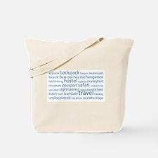 Travel Tag Cloud Tote Bag