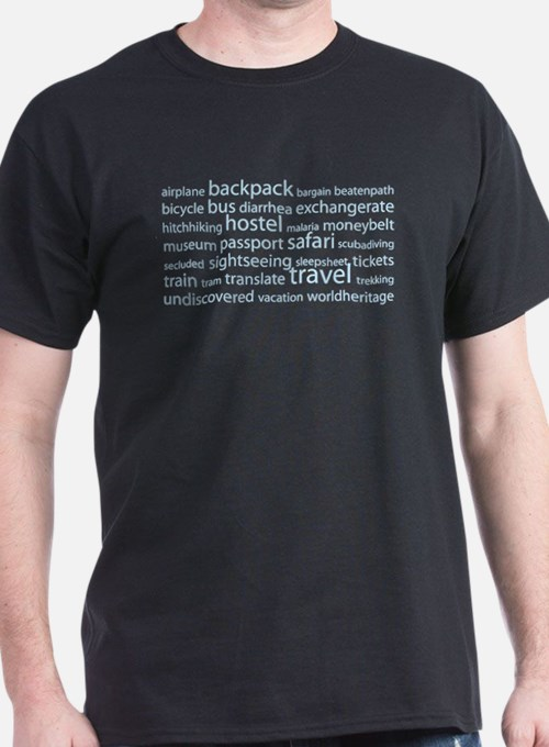 Travel Tag Cloud T-Shirt
