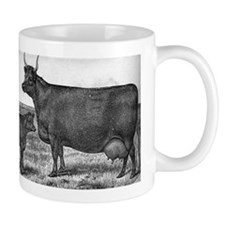 Milking Devon Cow Mug: Wisconsin Belle
