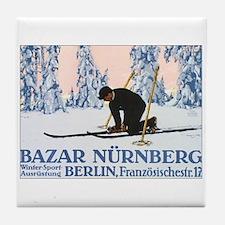 Nurnberg Ski Vintage Tile Coaster