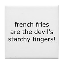 Cute French fries Tile Coaster