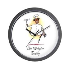 Personalize Black Chef Wall Clock