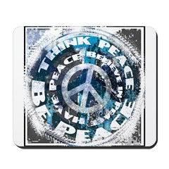 Urban Peace Blue & Blk Mousepad