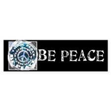 Urban Peace Blue & Blk Bumper Bumper Sticker