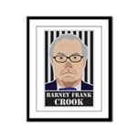 Barney Frank Crook Framed Panel Print