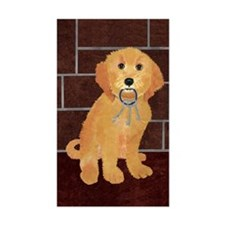 Labradoodle With Jailer Keys Rectangle Decal