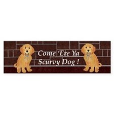 Labradoodle With Jailer Keys Bumper Bumper Sticker