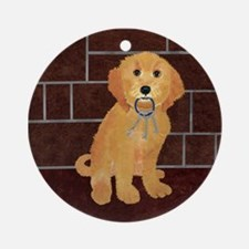 Labradoodle With Jailer Keys Ornament (Round)
