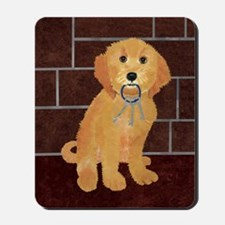 Labradoodle With Jailer Keys Mousepad