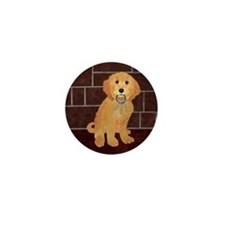 Labradoodle With Jailer Keys Mini Button (100 pack