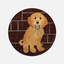 """Labradoodle With Jailer Keys 3.5"""" Button"""