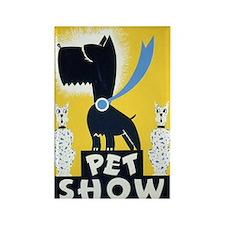 Pet Show Dogs Vintage WPA Art Rectangle Magnet