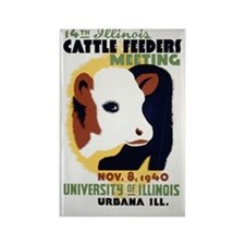 Cattle Meeting Vintage WPA Art Rectangle Magnet