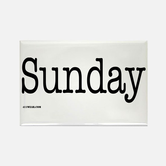 Sunday - On a Rectangle Magnet