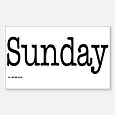 Sunday - On a Rectangle Decal