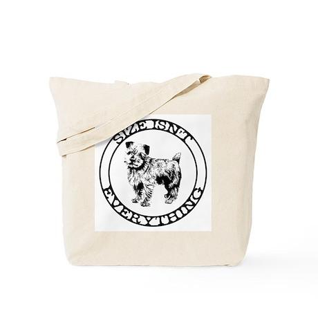 Norfolk Terrier- Size Isn't E Tote Bag