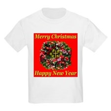 Merry Christmas Happy New Yea Kids T-Shirt