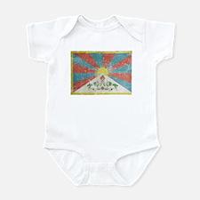 Vintage Tibet Flag Infant Bodysuit