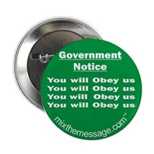 """You will Obey us 2.25"""" Button"""