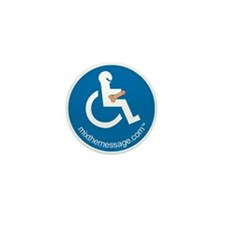 Disabled Mini Button (10 pack)