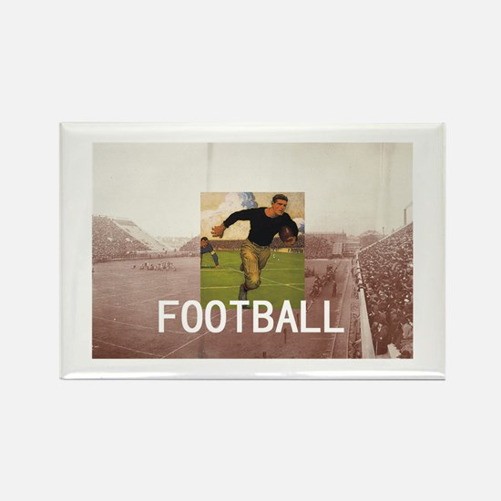 TOP Football Old School Rectangle Magnet