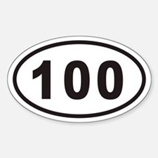 100 Euro Oval Decal