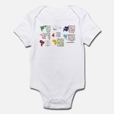 All Countries flags Infant Bodysuit