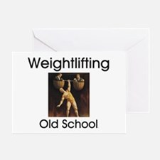 Weightlifting Old School Greeting Card