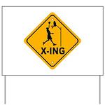 Basketball X-ing Yard Sign