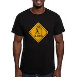 Basketball X-ing Men's Fitted T-Shirt (dark)