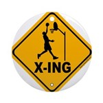 Basketball X-ing Ornament (Round)
