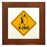 Basketball X-ing Framed Tile