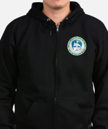 Yulia For President Zip Hoodie (dark)
