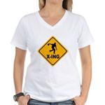 Bowl X-ing Women's V-Neck T-Shirt